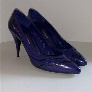 80's Sacha vintage purple heels